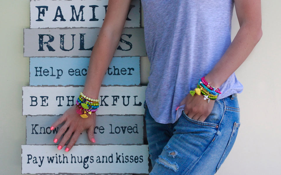 Choose To Be Happy & Choose Your Happy Candy Bracelets